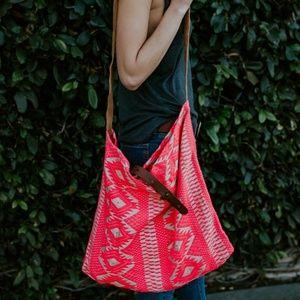 Handbags - 70's Style Neon tote